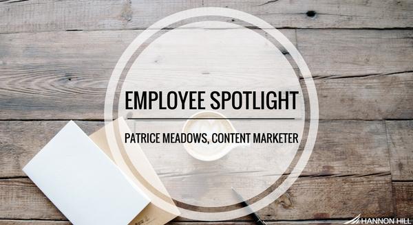 Blog post banner cover image for Hannon Hill employee spotlight on Patrice Meadows