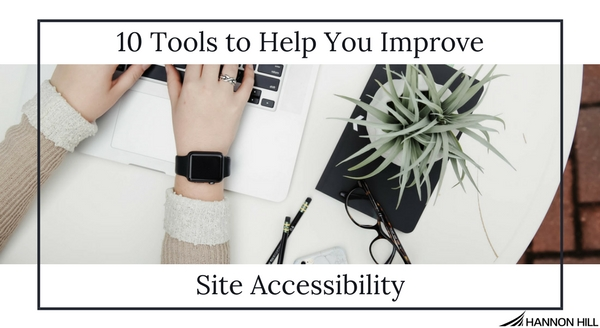 Banner cover image for blog highlighting ten tools that help teams detect site accessibility issues.