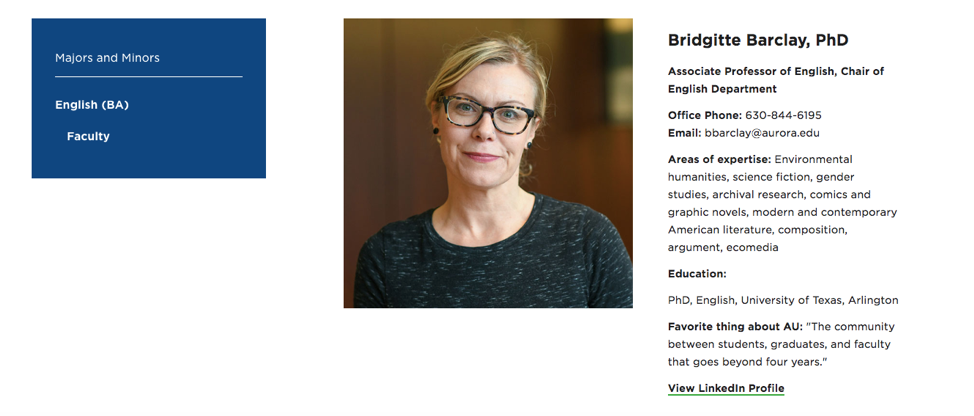 Faculty Member Page