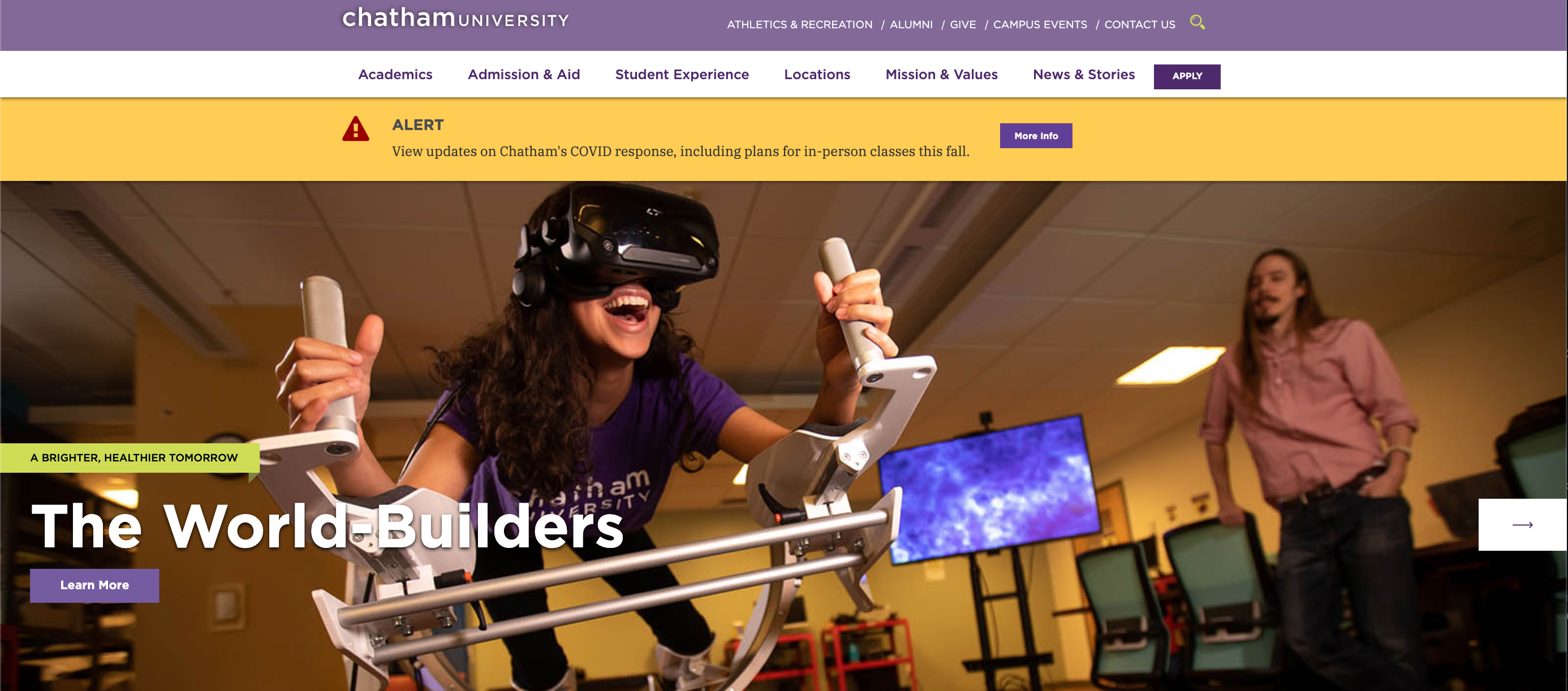 chatham university homepage banner