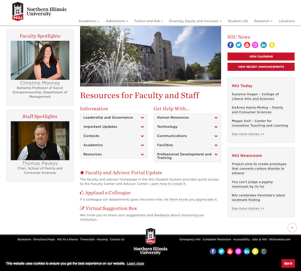 Northern Illinois University faculty and staff