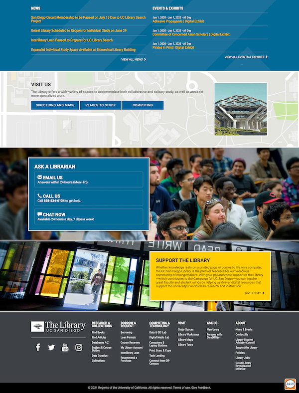 UC San Diego Library Site