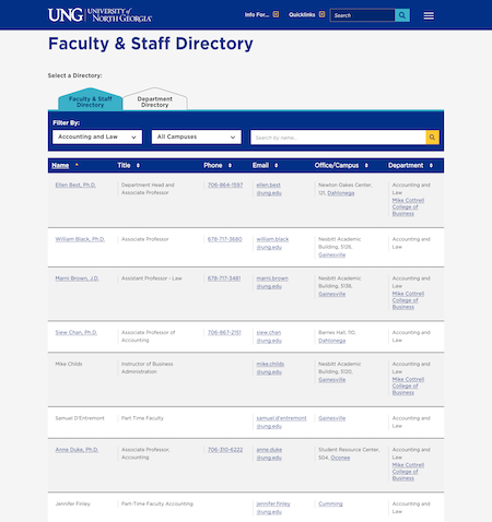 UNG's Active Directory Integration