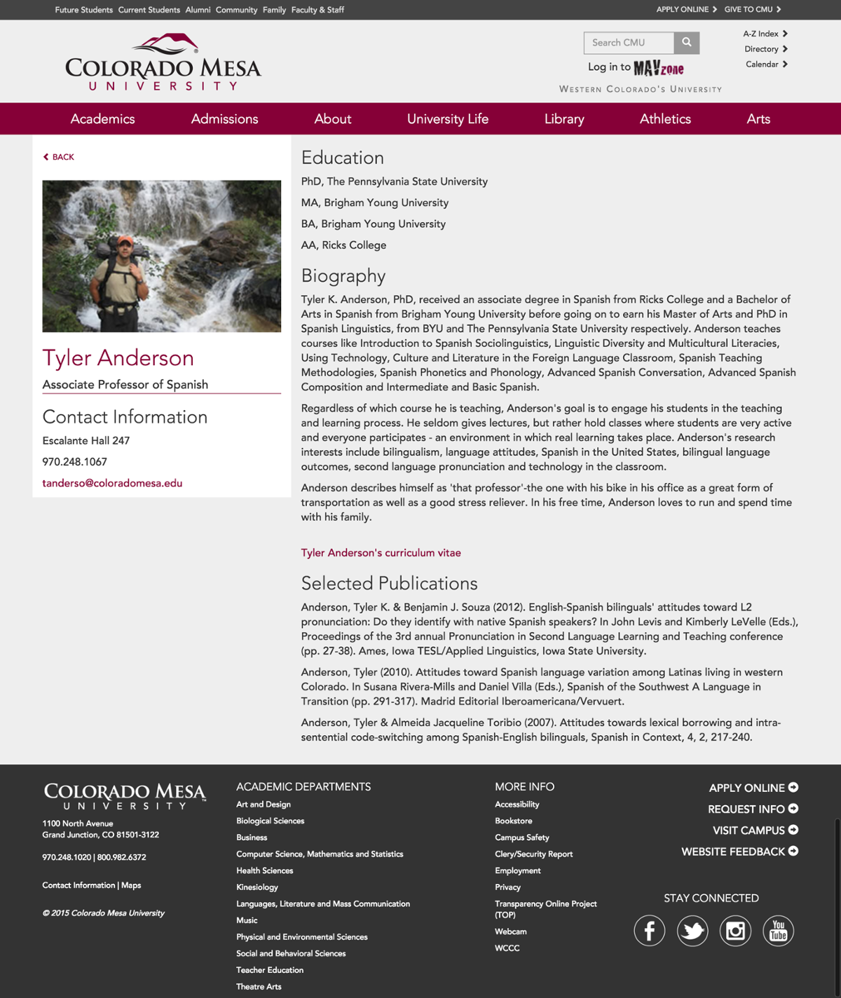 cmu faculty page