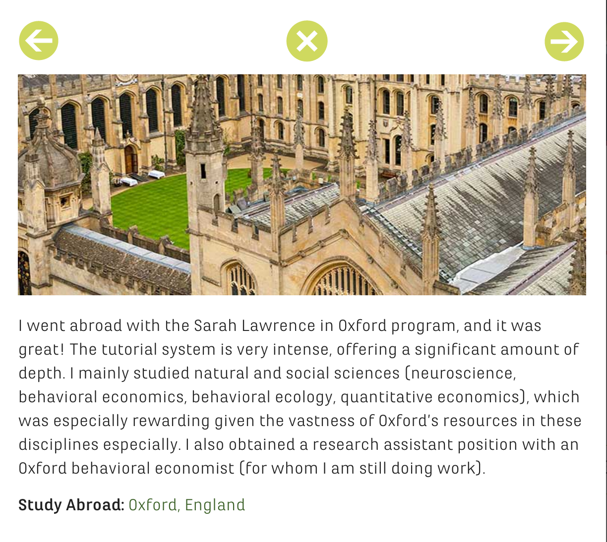 sarah lawrence story popup example