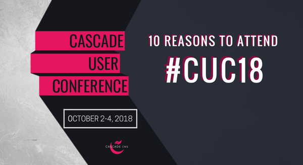 Banner image for 10 Reasons to Attend #CUC18