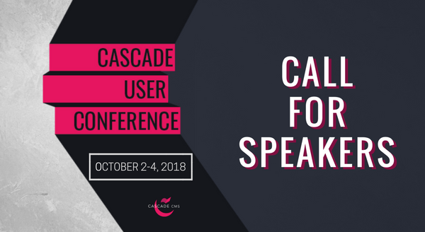 Banner image for #CUC18 Call for Speakers Now Open