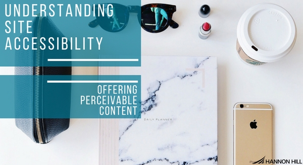 Banner image for Understanding Site Accessibility: Offering Perceivable Content